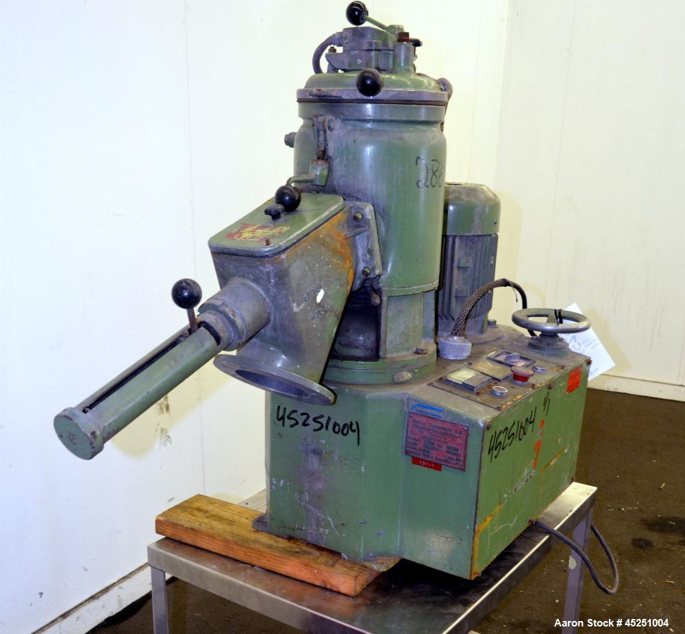Used- Stainless Steel Papenmeier Lab Size High Intensity Mixer, Type TGAHK-8, 31