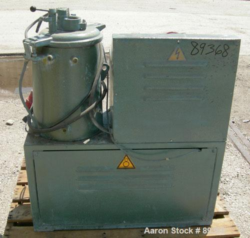 Used: Papenmeier lab size high intensity mixer, type TGHK20, 20 liter (.7 cubic feet), 316 stainless steel. Carbon steel jac...