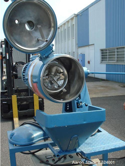 USED: Papenmeier high intensive mixer, type THK35, volume total 1.23 cubic feet (35 liters). Stainless steel on product cont...