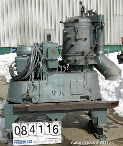 Used: Stainless Steel Papenmeier High Intensity Mixer