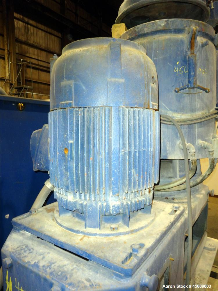 Used- Papenmier High Intensity Mixer, 200 Liter (7 Cubic Feet), Model TSAHK200, 316 Stainless Steel. Carbon steel jacketed b...