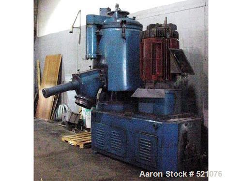 USED: Papenmeier 1000 liter high intensity mixer, machine number 2838,type TSAHK, 1971. Jacketed bowl, flush mount pneumatic...