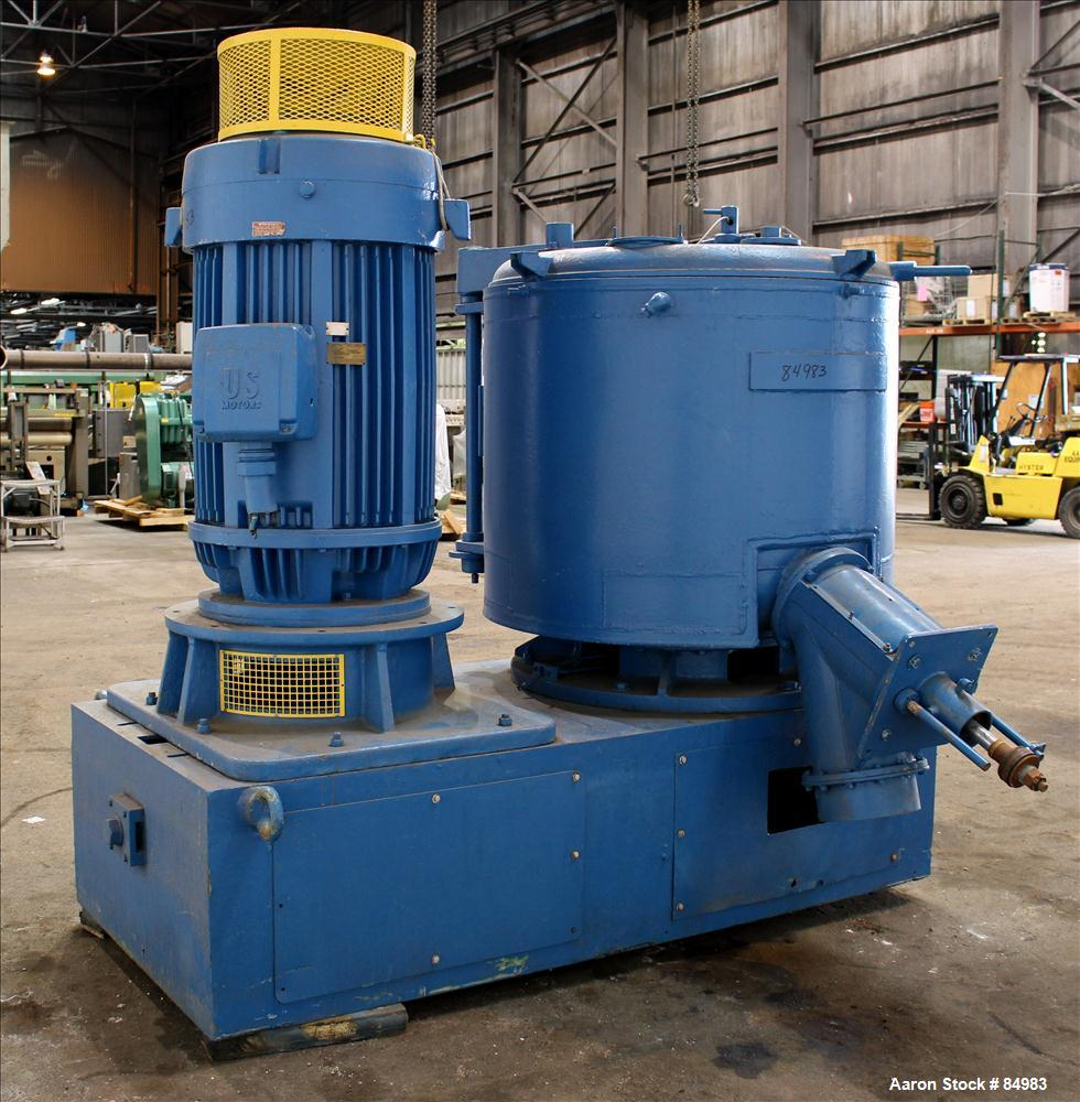 Used- Prodex/Henschel High Intensity Mixer, 1000 Liter, 35 Cubic Feet Capacity, Model 250-JSS, 316 Stainless Steel. Carbon s...