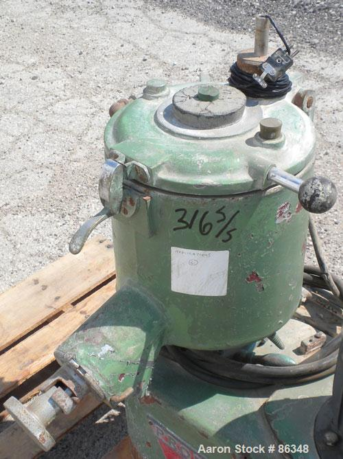 USED- Prodex Henschel High Intensity Lab Mixer, Approximately 10 Liter (.34 Cubic Feet), 316 Stainless Steel. Carbon steel j...