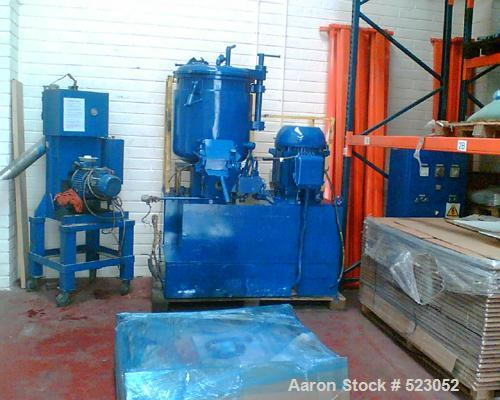 USED: TK Fielder high intensive mixer, type TR200. Material of construction is stainless steel on product contact parts. Tot...