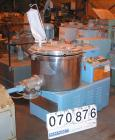 USED:Lodige high speed mixer granulator, type MGT250. 321 stainlesssteel, 250 liter (8.8 cu ft) capacity. Non-jacketed bowl ...