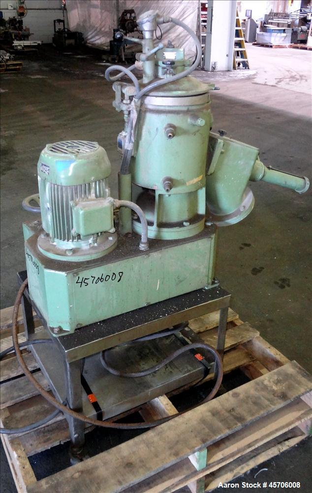 "Used- Papenmeier High Intensity Mixer, Model TGHK8, 8 Liter Capacity. 316 Stainless Steel. 9"" Diameter x 10.5"" deep mixing b..."