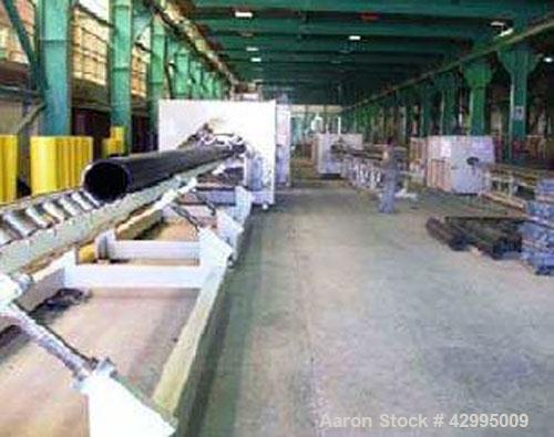 "Used-Complete Extrusion Line for PE Pipes 9.8"" - 31.5"" (250 - 800 mm).  Comprised of:  (1) Battenfeld Bex 1-120-30B, maximum..."