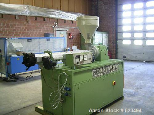 "USED: PVC profile line. Cincinnati CMT-35 twin screw extruder, screwdiameter 1.38"" to 2.95"" (35-75mm) conical, screw length ..."