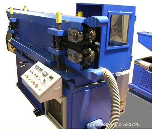 "USED: Corma corrugator complete with die head, type 120 HSL VAC. Mold blocks cavity sizes available: 1"" x 0.78"" (25 x 20 mm)..."