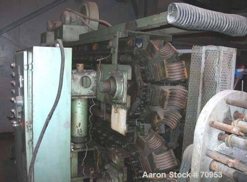 """USED:Corma corrugator, model 600. 4"""" mold blocks, 118"""" long. Twoblowers for mold cooling. 4"""" single wall die head, approx 1 ..."""