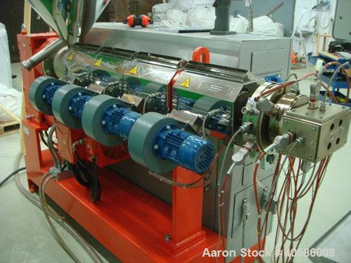 """Used-Friul Filiere Omega 60 S-Line Extrusion Line consisting of: (1) Omega 60 single screw extruder, 2.36"""" (60 mm) screw, L/..."""