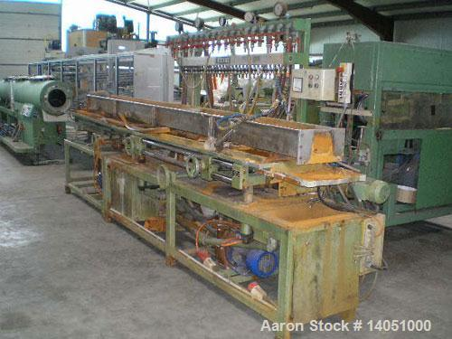 "Used-IDE Co-Extrusion Line. (1) IDE ME-60/3 single screw extruder, 2.4"" (60 mm), 25 L/D, 32 hp/24 kW DC motor, output approx..."