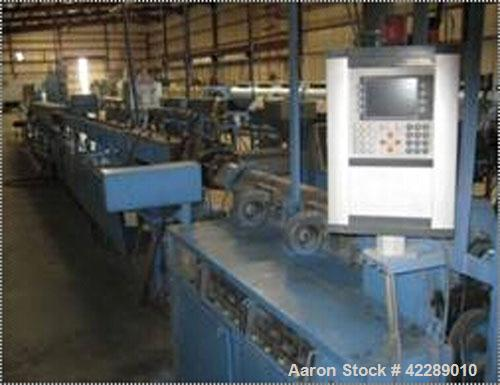 "Used-IDE Pipe Profile Extrusion Line consisting of: (1) IDE single screw extruder, type ME 60-3-25D. 2.34"" diamer (60 mm) sc..."