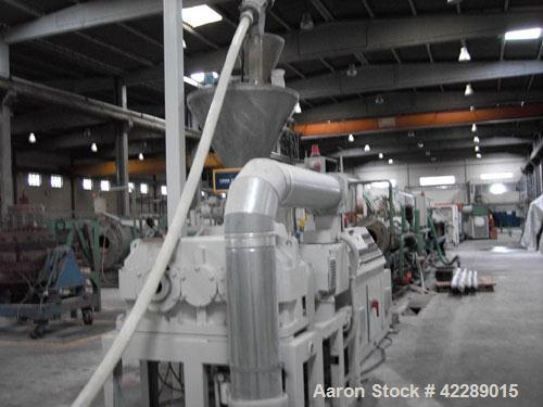 "Used-Industrie Generali Pipe Extrusion Line, capacity 1543 lbs/h (700 kg/h), used for 7.8"" - 15.8"" (200-400 mm) UPVC pipes. ..."