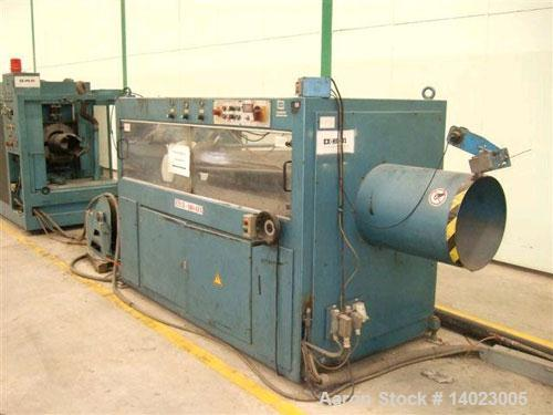 "Used-Krauss Maffei pipe extrusion line, capacity 1102 lbs/h (500 kg/h), used for 9.84""-15.75"" (125-400 mm) HDPE pipes.  Cons..."