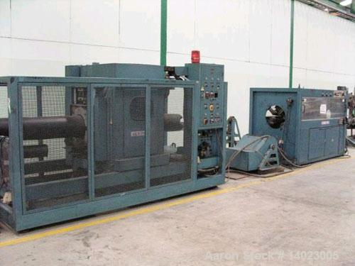 """Used-Krauss Maffei pipe extrusion line, capacity 1102 lbs/h (500 kg/h), used for 9.84""""-15.75"""" (125-400 mm) HDPE pipes.  Cons..."""
