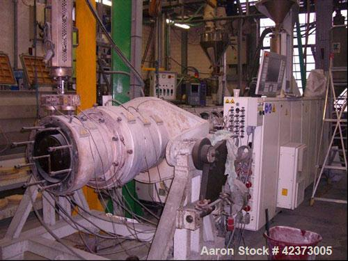 "Used-Krauss Maffei Pipe Extrusion Line used on 9.84"" (250 mm) PE pipes. Comprised of (1) Krauss Maffei KME 75-36R, 2.95"" (75..."