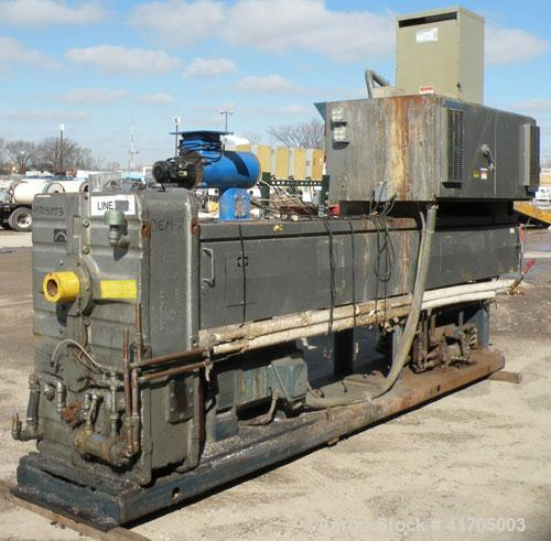 "Used- McNeil / NRM Profile Extrusion Line consisting of: (1) McNeil/NRM 4-1/2"" single screw extruder, model 4.5 Pacemaker II..."