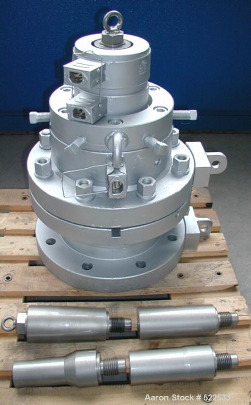 "USED: Reifenhauser/Krauss Maffei pipe extrusion line for PE pipe max 6-1/4"" (160mm) diameter consisting of: (1) Reifenhauser..."