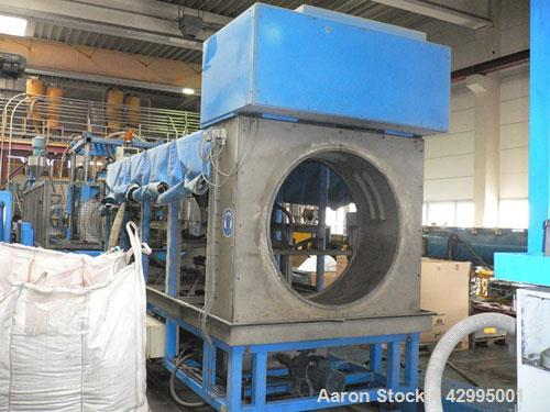 "Used-Unicor UC 1000/9 iV Corrugator Extrusion Line, for corrugated PE double wall pipes up to maximum 39.37"" (1000 mm) outer..."