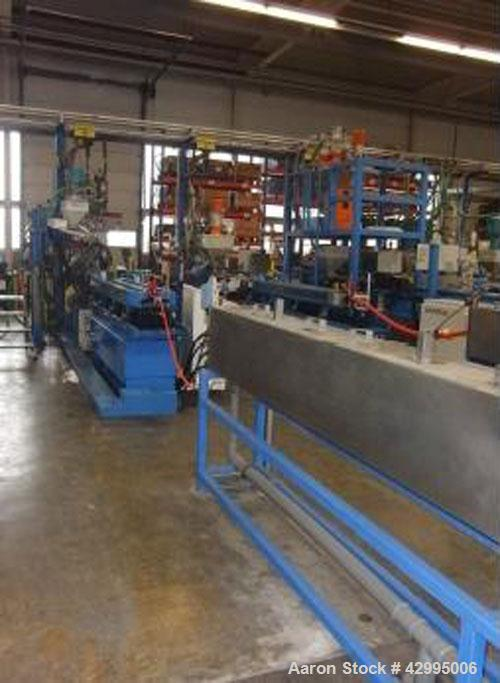 "Used-Unicor UC 58/90 Corrugator Line.  Maximum output 705 lbs (320 kg/h), for single wall pipes from 0.23 - 2"" (5 - 58 mm), ..."