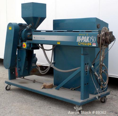 "Used- Akron Pelletizing Line Consisting Of: (1) Akron 1-1/2"" single screw extruder, model MPAK 150. Approximate 40:1 L/D rat..."