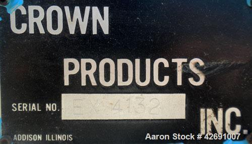 Used- Crown Single Screw Pelletizing Line