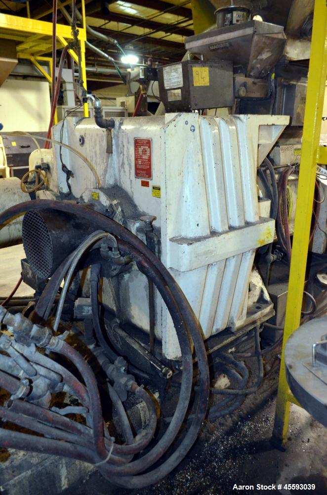 Used- 1995 Davis Standard Model 60IN60TPH Pelletizer Extruder