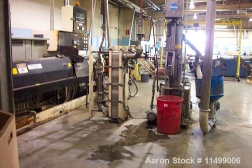 "Used-Underwater Pelletizing Line consisting of the following:  Used 6"" Davis Standard extruder, 34:1 L/D ratio, electrically..."