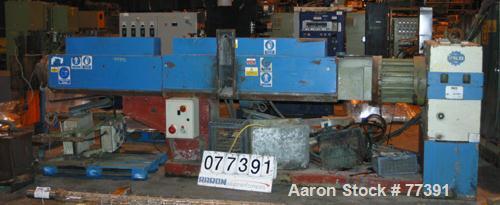 "Used- Dolci single screw extruder, model 90KS, 3.5"" diameter screw x 150"" long, 50:1 L/D ratio, 44"" center line, 8 zone barr..."