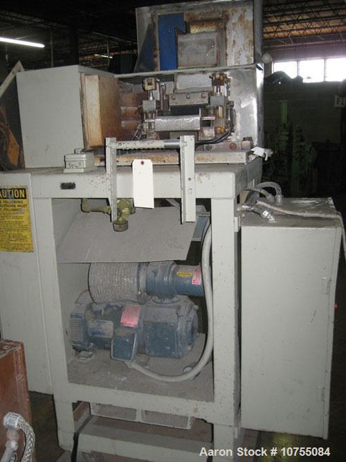 "Used-Egan 4.5"" Extruder, 24:1 L/D, 150 HP, 500 Volt 1750 RPM DC motor with 5 HP cooling blower into Egan Model A4532D, 17.2:..."
