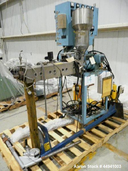 "Used- Killion Lab Pelletizing Line consisting of:  (1) Killion 1.25"" diameter single screw extruder, approximately 30 to 1 L..."