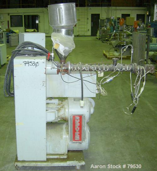 """USED- Killion Pelletizing Line Consisting Of (1) Killion 1-1/4"""" extruder, 25:1 L/D. 4 zone electrically heated, air cooled, ..."""