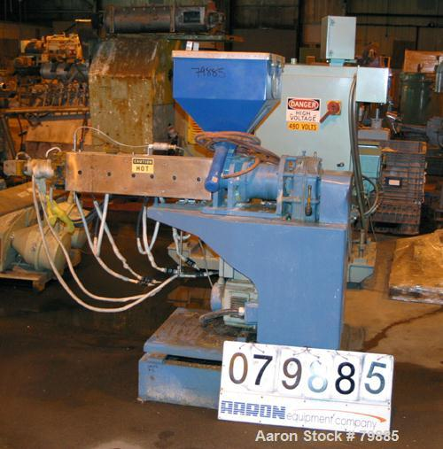 "USED: Killion 1-1/2"" single screw extruder, 24:1 L/D ratio. Electrically heated, air cooled. (3) zone vented barrel, water c..."