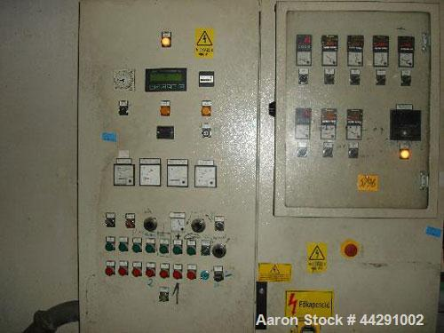 Used-Meccanica Prealpina Granulator, Model OMP T60.  Capacity 330 lbs/h (150 kg/h), L/D 35, 380/220V/50 Hz.  With control pa...