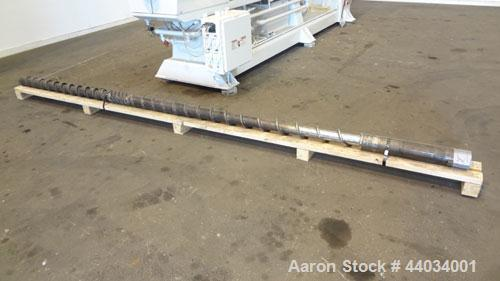 "Used- PTI Underwater Pelletizing Line consisting of: (1) PTI 4-1/2"" Trident Series single screw extruder, model 4500, serial..."