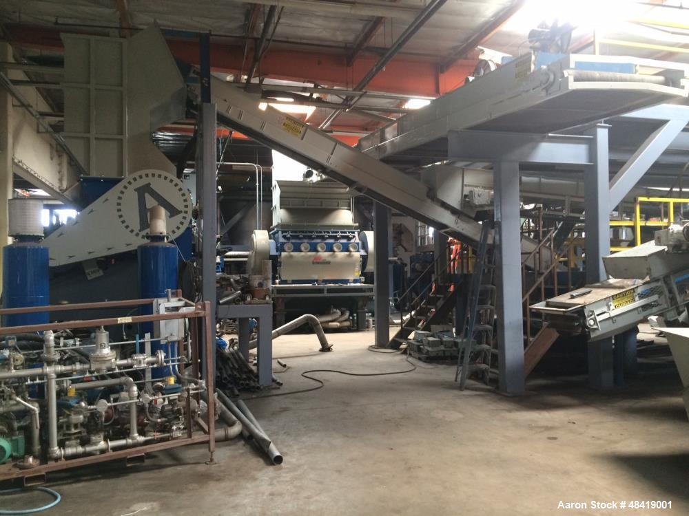 Used- Complete Plastics Line to Manufacture PE/PP/PET. State of the art fully automated hot wash processing and Pelletizing ...