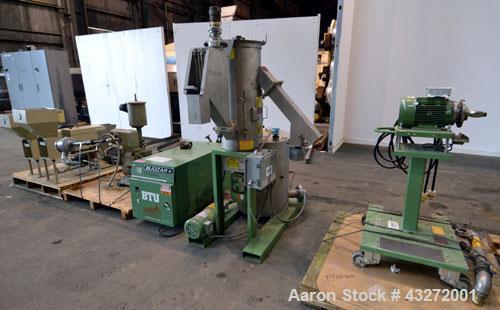 Used- Twin Screw Pelletizing Line Consisting Of: (1) Berstorff 40mm twin screw extruder, model ZE40/40A, serial# EO6313/58. ...