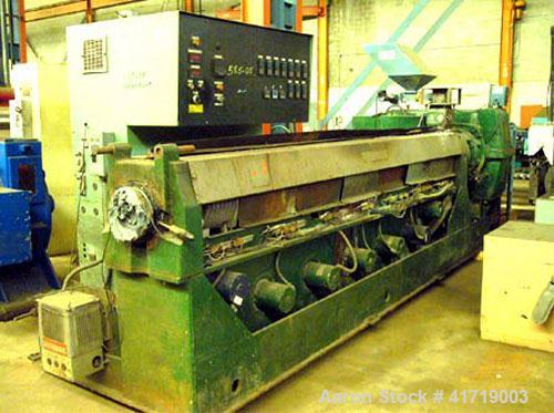 """Used-Davis Standard 450 H Single Screw Extruder. 4.5"""" (114 mm), 34 L/D screw, 150 hp (114 kW), non-vented, electrically heat..."""