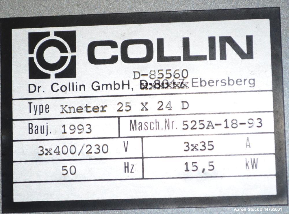 Used- Dr. Collin Laboratory Pelletizing Line