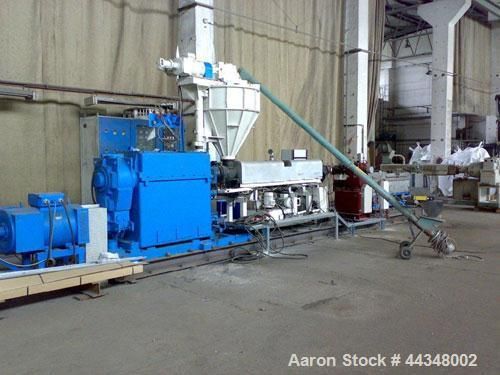 Used-Ermafa Co-Rotating Twin Screw Extrusion Line