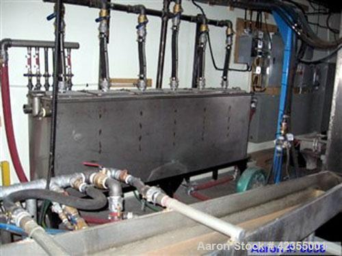 Used-Twin to Single Screw Extruder, diameter 150 mm, L/D = 30:1, twin screw feeding section, 120 HP, manufactured by Franc L...
