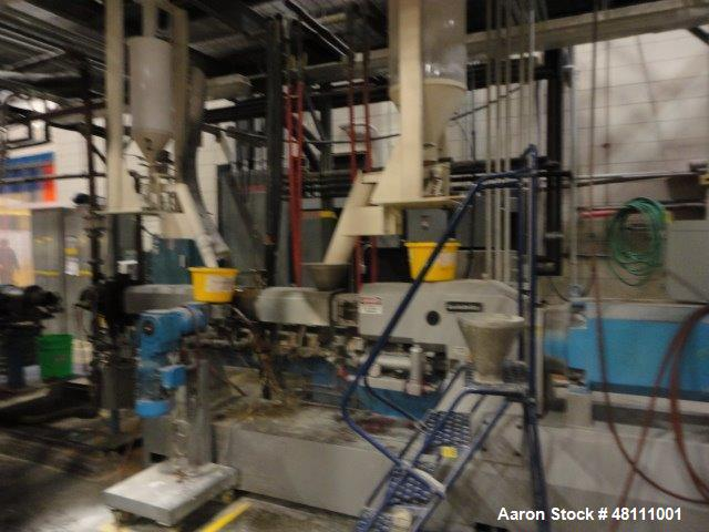 Used- Leistritz Twin Screw ZSE40HPX/1200 MFG 2005.Co rotating screw design 1200 rpm Screw speed. Approximate 40:1 L/D Ratio,...