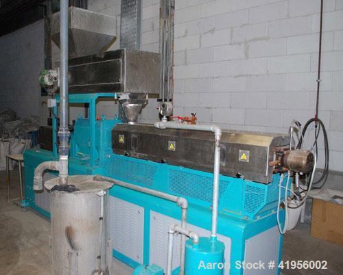 "Used-Compounding Plant. (1) Trimec DN40X42D co-rotating twin screw extruder, 1.6"" (40 mm), L/D 42, 100 hp/72 kW, 3/50/380V, ..."
