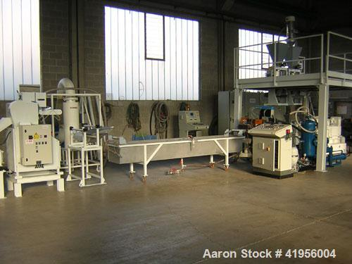 Used-Compounding Pland handling PP, PE, PS, PMMA-PC, CAC03, talc, fiberglass, output 440-882 lbs/hour (200-400 kg/hour).  Co...