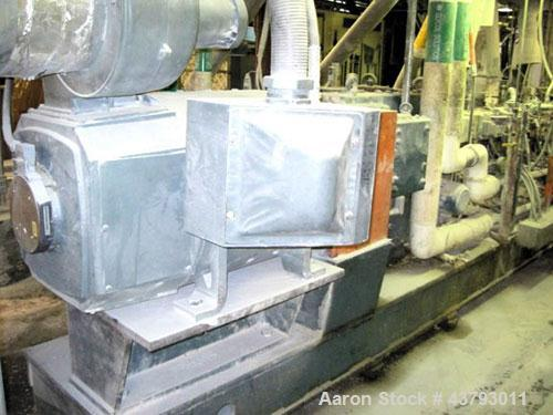 Used- Werner & Pfleiderer 70mm Twin Screw Extruder, Type ZSK-70. Co-Rotating screw design. Approximate 52 to 1 L/D ratio. 30...