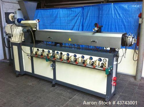 Used-Werner Pfleiderer ZSK53 Compounding Line.  Screw diameter 53/44 L/D.  Motor 60 hp (45 kW).  Maximum output 550 lbs/hour...