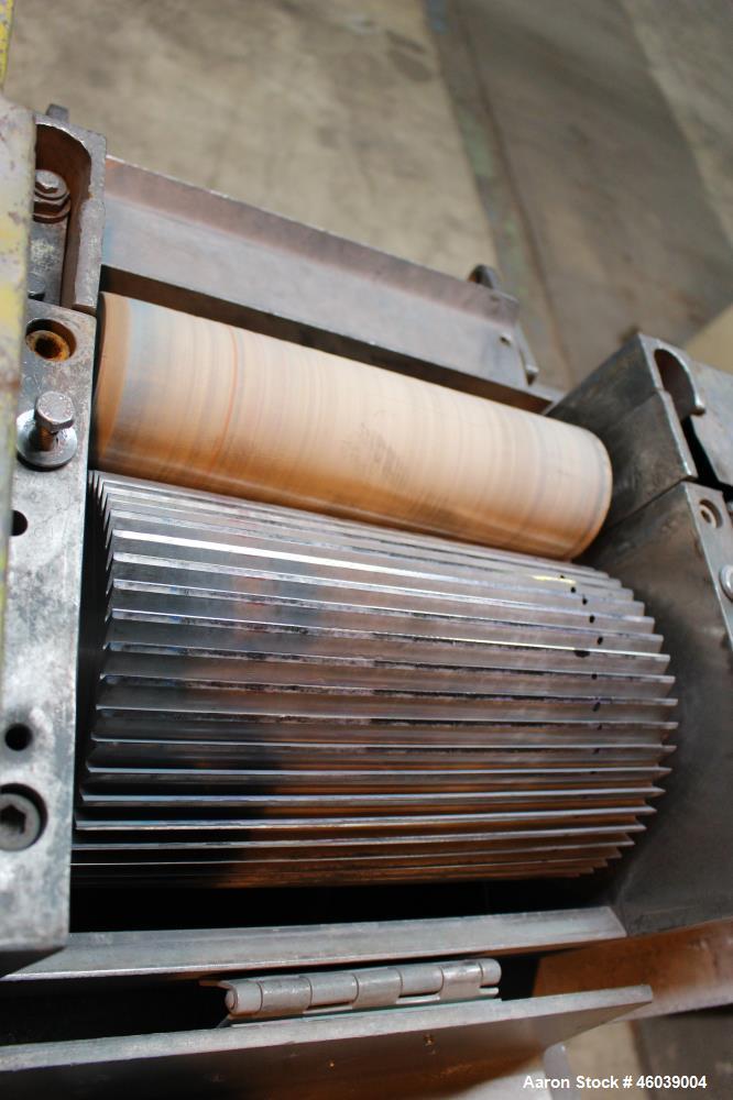 "Used- Conair Jetro Pelletizer, Model 212. Approximate 12"" wide x 8"" diameter 48 blade helical rotor. (1) Rubber, (1) metal p..."