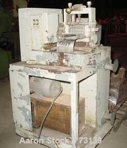 """USED: Cumberland dicer, model 6, approximate 8"""" diameter x 6 1/2"""" wide.  8 bolt-on blade solid rotor, manually operated meta..."""